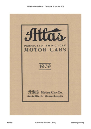 1909 Atlas Perfect Two Cycle Motorcars (28pgs)
