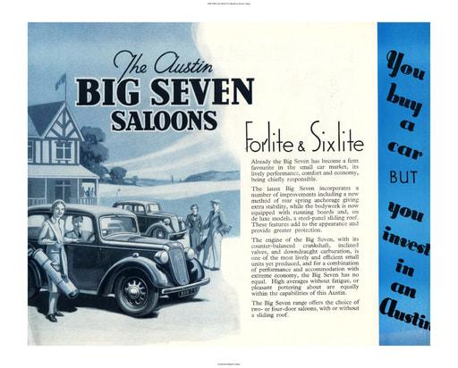 1938 1939 Austin British The Big Seven Saloons (5pgs)