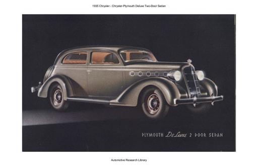 1935 Chrysler  Deluxe Two Door Sedan (13pgs)