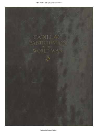 1919 Cadillac   Participation in the World War (76pgs)