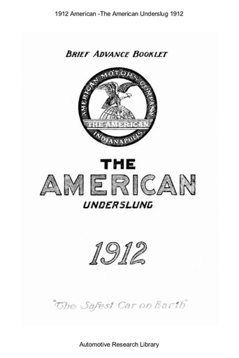 1912 American   The Underslung (19pgs)