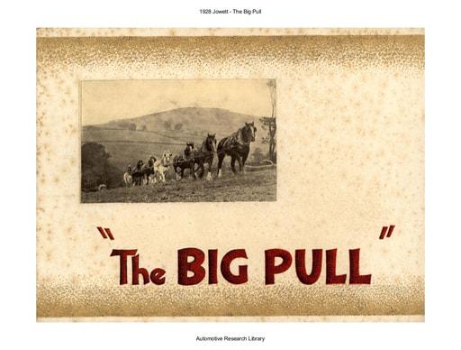 1928 Jowett   The Big Pull (24pgs)