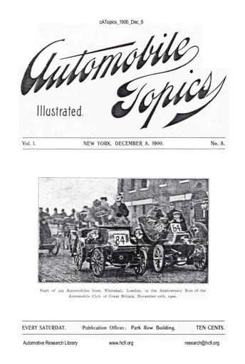 Auto Topics | 1900 Dec 8