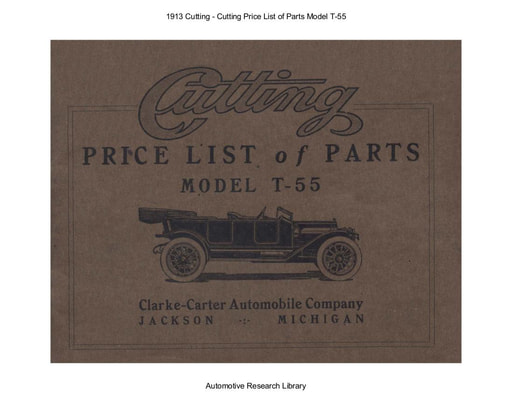 1913 Cutting   Price List of Parts Model T 55 (65pgs)