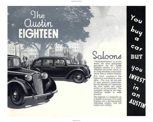 1938 Austin British The Eighteen (6pgs)