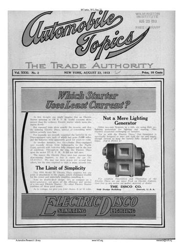 Auto Topics | 1913 Aug 23