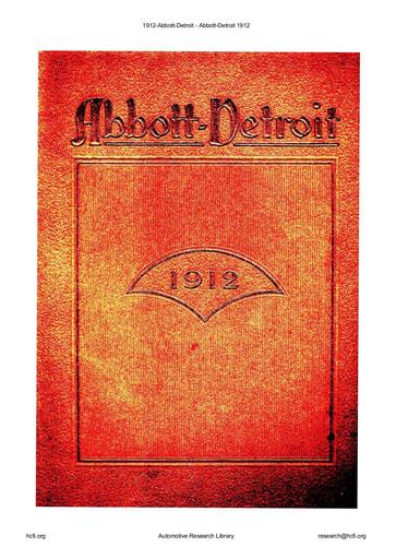 1912 Abbott Detroit (32pgs)