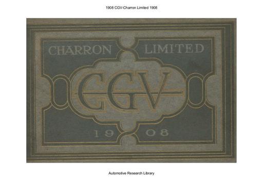 1908 CGV   Charron Limited (30pgs)
