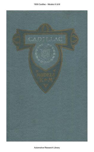 1906 Cadillac   Models K & M (31pgs)