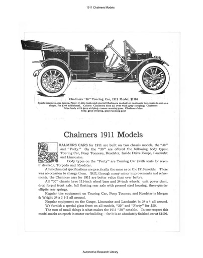1911 Chalmers Models (6pgs)