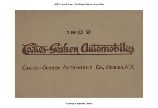 1909 Coates Goshen (17pgs)