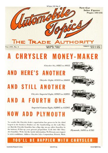 Auto Topics | 1932 May 21