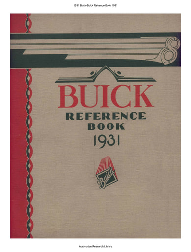 1931 Buick   Refrence Book (68pgs)