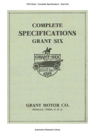 1916 Grant Six   Complete Specifications (4pgs)