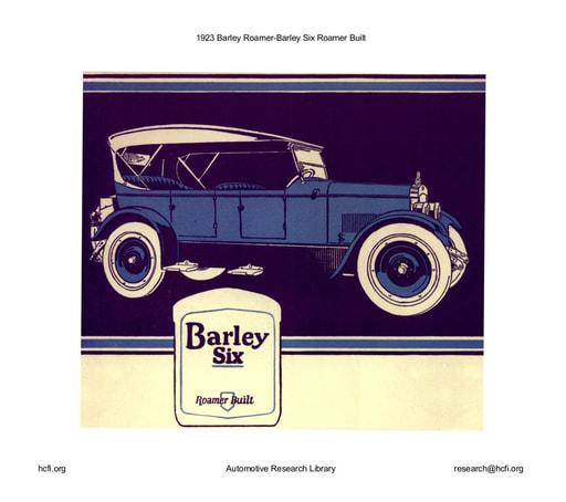 1923 Barley Roamer   Six Roamer Built (17pgs)