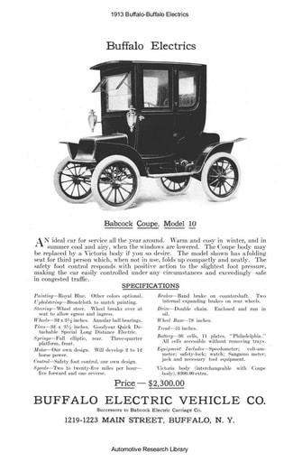1913 Buffalo   Electrics (3pgs)