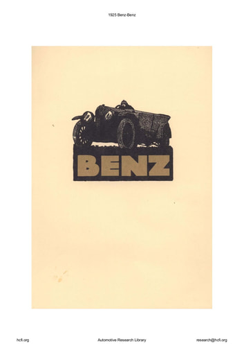 1925 Benz (10pgs)