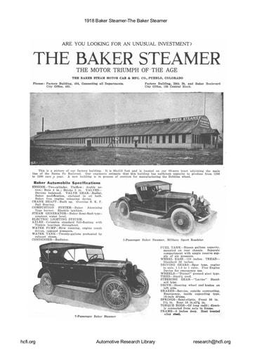 1918 Baker Steamer (8pgs)
