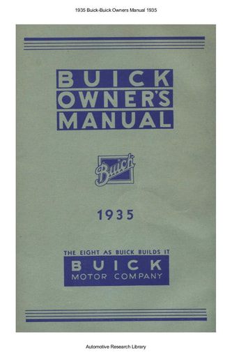 1935 Buick   Owners Manual (68pgs)