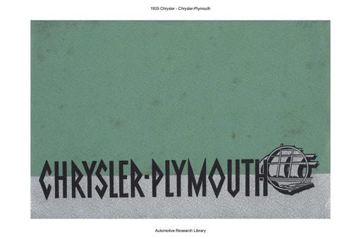 1935 Chrysler   Chrysler Plymouth (14pgs)
