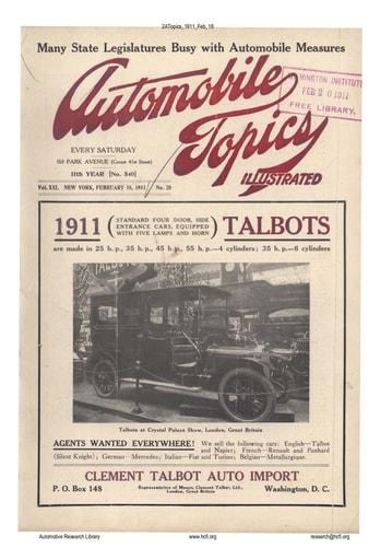 Auto Topics | 1911 Feb 18
