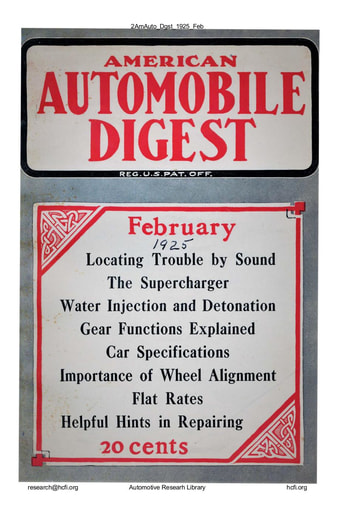 American Automobile Digest - 1925 February