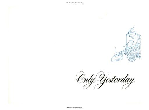 1918 Chevrolet   Only Yesterday (10pgs)