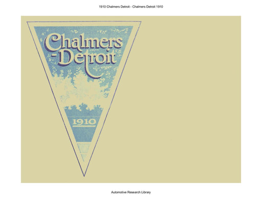 1910 Chalmers Detroit (34pgs)