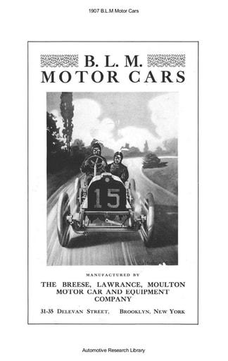 1907 BLM Motor Cars (4pgs)