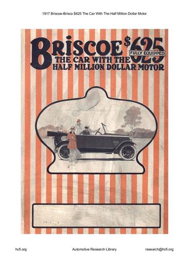 1917 Briscoe   $625 (8pgs)