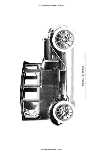 1913 Carter Car   Model 5 D Sedan (52pgs)