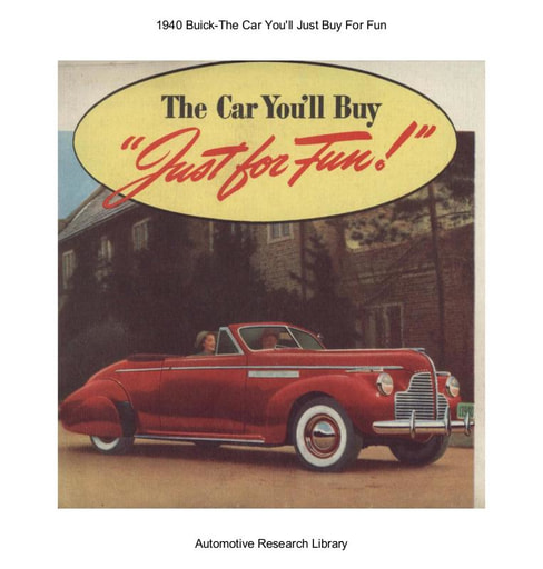 1940 Buick  T he Car You'll Just Buy For Fun (6pgs)