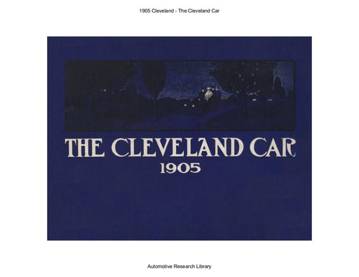 1905 Cleveland   The Cleveland Car (15pgs)