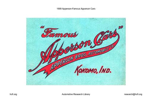 1909 Apperson   Famous Cars (33pgs)