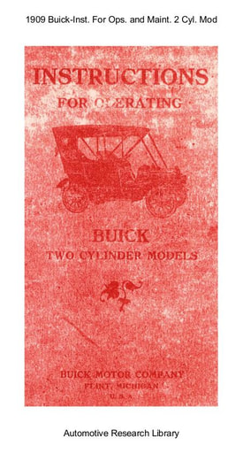 1909 Buick   Inst  For Operating and Maint  2 Cyl  Models (14pgs)