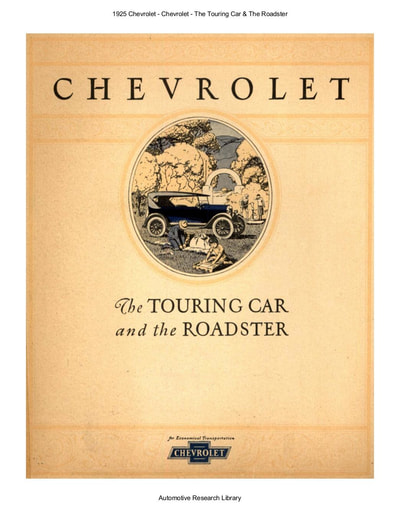 1925 Chevrolet   The Touring Car & The Roadster (5pgs)
