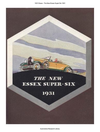 1931 Essex   Super Six (6pgs)