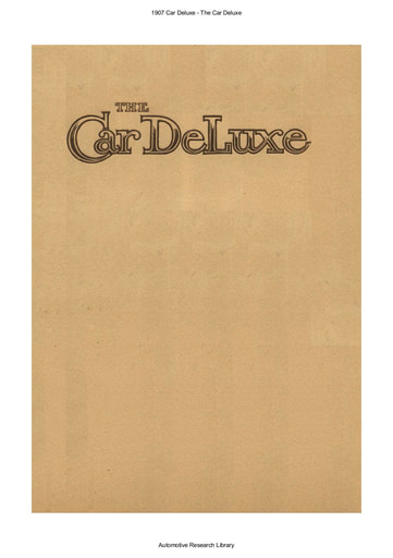 1907 Car Deluxe (17pgs)
