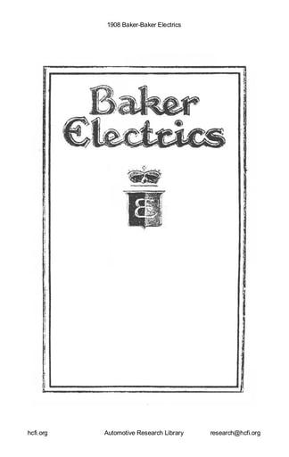 1908 Baker   Electrics (33pgs)