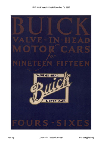 1915 Buick   Valve In Head Motor Cars For (31pgs)