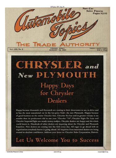 Auto Topics | 1931 Aug 15