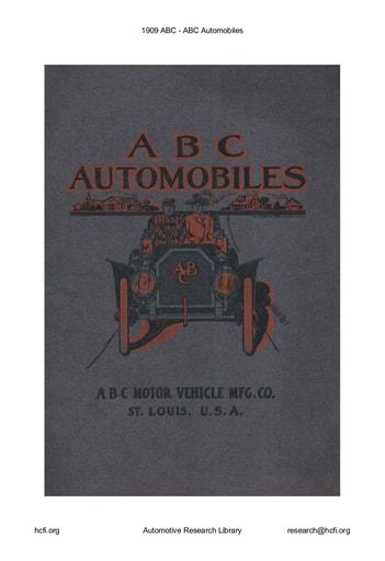 1909 ABC Automobiles (26pgs)