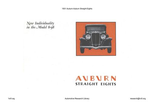 1931 Auburn   Straight Eights (10pgs)