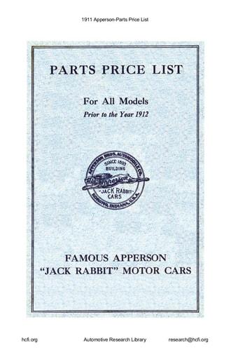 1911 Apperson   Parts Price List (31pgs)