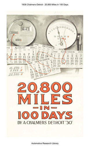 1908 Chalmers Detroit   20,800 Miles in 100 Days (12pgs)