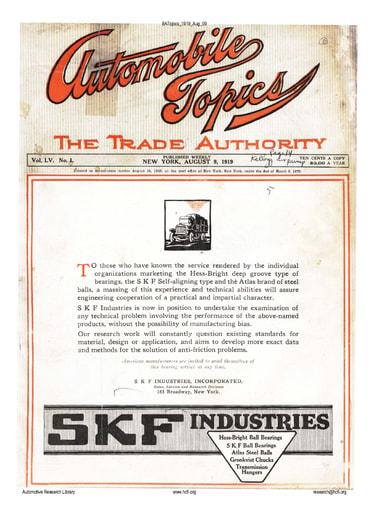 Auto Topics | 1919 Aug 09