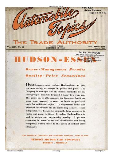 Auto Topics | 1930 Oct 18