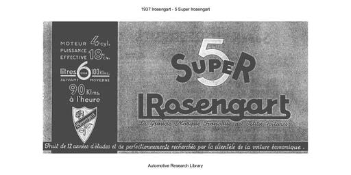 1937 Irosengart   5 Super Irosengart (11pgs)