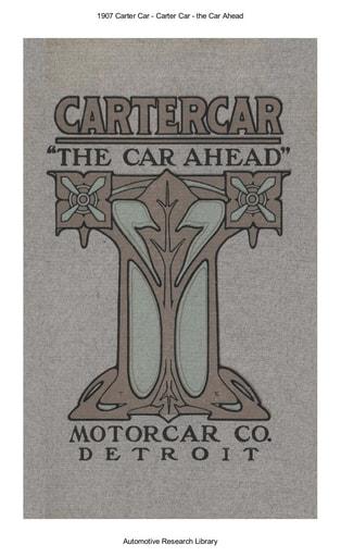 1907 Carter Car   The Car Ahead (22pgs)
