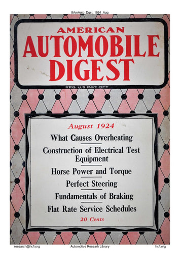 American Automobile Digest - 1924 August